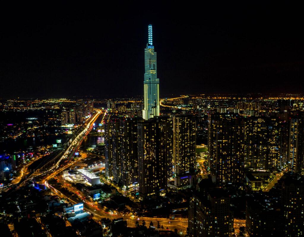 The Vietnam Group Landmark 81 At Night